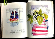 In and Out of The Studio: Sketchbook Journal Pages
