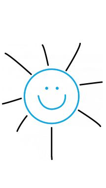 How to draw Sun, Simple Tutorial for Kids step 3