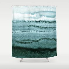Within The Tides - Ocean Teal Bathroom Shower Curtain by Monika Strigel - 71