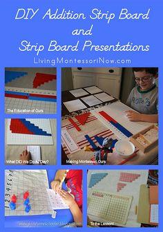 DIY Addition Strip Board and Strip Board Presentations Plus Montessori Monday Link-up Collection