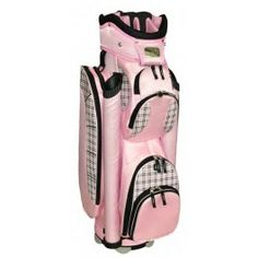 Awesome BLUE GREEN PLAID WOMENS LADIES DESIGNER GOLF BAG WITH HEADCOVERS