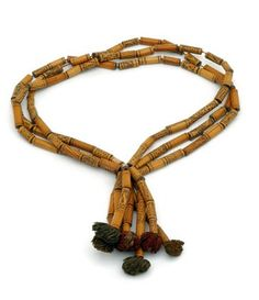 Indonesia | Borneo Dayak woman's necklace made from bamboo and fiber