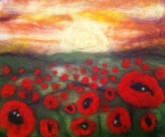 Felted poppies