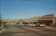 era photo of Victorville, Ca. Possibly downtown street area. San Bernardino County, Apple Valley, Route 66, Vacation Spots, Childhood Memories, Vacations, Mid Century, Street View, California