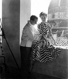 """Printed cotton dress Zebrato"""" motif - 1953 © Emilio Pucci Archive/"""
