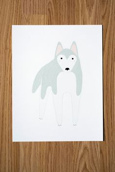 Husky Illustration by Gingiber on Etsy