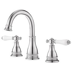 $84  Pfister Sonterra Polished Chrome 2-Handle Widespread WaterSense Bathroom Faucet (Drain Included)