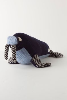 Wally Walrus.what a cool denimand sock plushie toy to make ,love a walrus