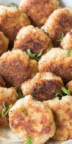 Ukrainian kotleti (pork patties) filled with ground pork and chicken, mayo, seasoning, onions and garlic. The patties are shaped, breaded and fried.