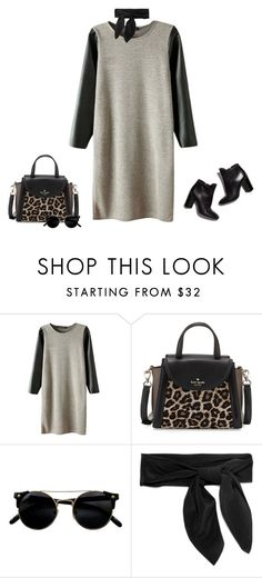 """A touch of leopard print"" by lenaick ❤ liked on Polyvore featuring Pierre Hardy, Kate Spade and Chloé"