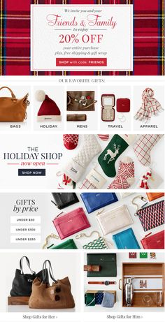 Friends & Family Sale - 20% off! So many awesome gift ideas! #Christmas