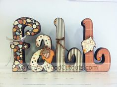 Fall Letters Wood Craft Project - Home Decor - Crafty Wood Cutouts in Orem, Utah
