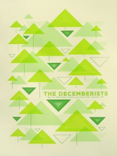 The Decemberists concert poster by Nate Duval