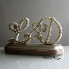 Wedding Cake Topper & Display Vintage Pearl by NDetailDesign, $135.99