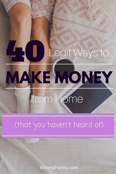40 Legit (and unknown) ways to make money from home Check out all the best tips and tricks for eBay sellers on ResellingRevealed.com  The best eBay blog on the net for BOLO lists, eBay How-To Guides, and more!