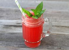 Tasty Kitchen Blog: Watermelon Spritzers with Honey and Lemon. Guest post by Maria Lichty of Two Peas and Their Pod, recipe submitted by TK member Bev Weidner of Bev Cooks.