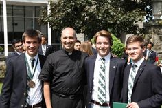 Fr. Michael Tidd and some of his Forensics Society debaters