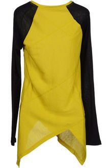 Proenza Schouler Long Sleeve Tshirt in Yellow (green)