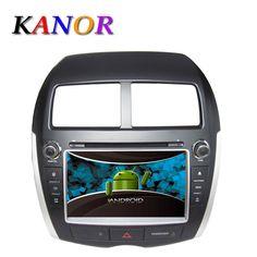 1024*600 Autoradio Android 5.1.1 GPS Navigation System For Mitsubishi ASX Peugeot 4008 Citroen Car Radio DVD Cassette Player