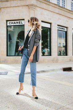 plaid blazer street style trend style outfit 2017 accessories denim1