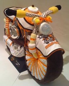 Diaper cake motorcycle