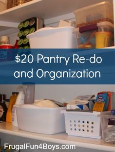 Melissa C - check this out. Pantry re-do and organization in a house with four kids Organize Your Life, Organizing Your Home, Organizing Tips, Organising, Kids Room Organization, Organization Hacks, Getting Organized, Home Management, Declutter