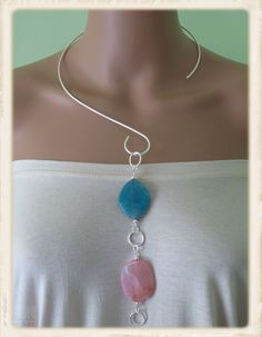 Fire Agate Neckwire - reversible!