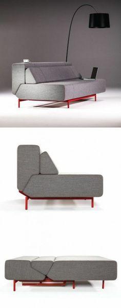 Bettsofa mit Matratze und Bettkasten design