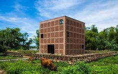 Tropical Space, Terra Cotta Studio, located next to Thu Bon river in Dien Ban district of Quang Nam Province, Vietnam