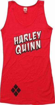 Harley Quinn Name Juniors Tunic Tank Top