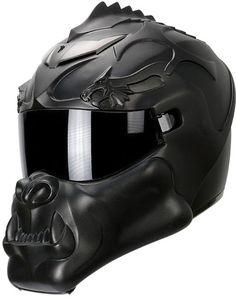 Le casque moto NLO Orc Dragon Helmet-affiche un look d'orque assoiffé de sang /// The NLO helmet Orc Dragon has a look inspired from Heroic Fantasy
