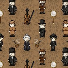 Cutesy Holmes fabric.....OMG!!!! Have to have this made into a onbu carrier for Jack!!! $18.00/yd