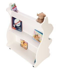 """36""""W x 42""""T x 20""""D Another great find on #zulily! White Rabbit Mobile Double-Sided Bookcase by Ace Baby Furniture #zulilyfinds"""