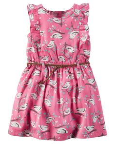 Toddler Girl Bird Print Sateen Dress from Carters.com. Shop clothing & accessories from a trusted name in kids, toddlers, and baby clothes.