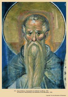 Greek icons from Pantocrator monastery, mount Athos Byzantine Icons, Byzantine Art, Greek Icons, St Cuthbert, Roman Church, Christian Artwork, Biblical Art, Catholic Art, Art Icon