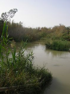 Jordan River, Ash-Sham - Palestine and Trans-Jordan where Jesus (as) was baptised. Palestine, Places To Travel, Places To See, The Good Shepherd, Promised Land, Holy Land, Pilgrimage, Beautiful Places, Scenery