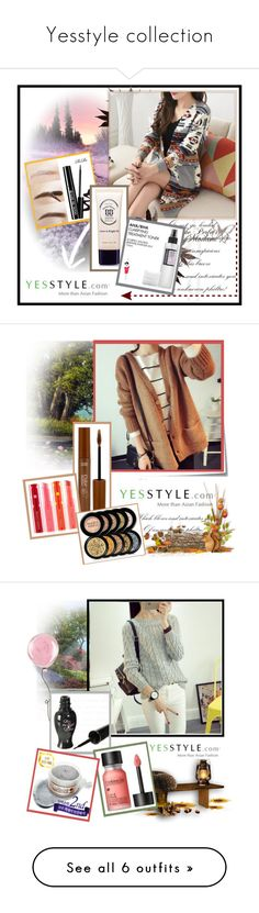 """""""Yesstyle collection"""" by emily-5555 ❤ liked on Polyvore featuring Cosrx, Beauty, knitwear, yesstyle, Post-It, PPGIRL, Yoflap, Fall, Oris and Nicki Minaj"""