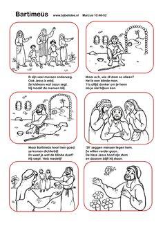 Bartimeüs - Marcus 10:46-52  verhaal en kleurplaten