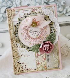 Beautiful card   -  I have the wreath stamp set from Papertrey Ink and love it.  Many ways to use it.