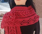 This shocking pink scarf is versatile and beautiful!