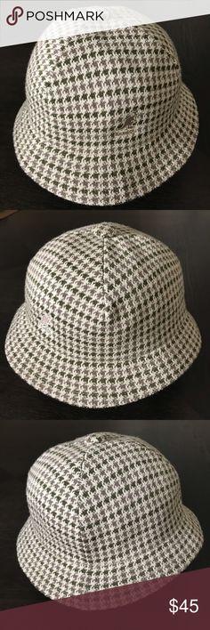 """med Red /& White  sm New Ladies Silk /& Cotton 4.5/"""" Wide Brim Bucket Hat"""