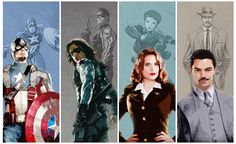 Marvel: Comics to Studios (Captain America, Winter Solider, Peggy Carter, and Howard Stark)