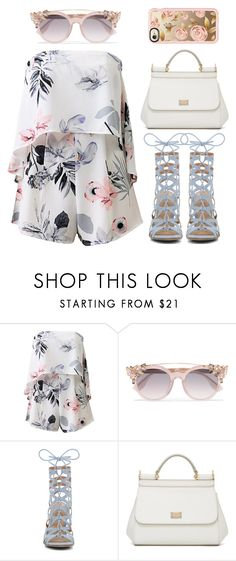 """""""FLORAL"""" by nikitaku ❤ liked on Polyvore featuring Jimmy Choo, ALDO, Dolce&Gabbana and Casetify"""