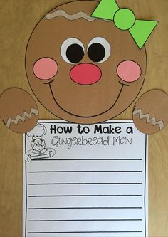 Gingerbread Classroom Ideas and a FREEBIE – Mrs. Richardson's Class Gingerbread Writing and Craft that is a wonderful, engaging gingerbread writing activity!