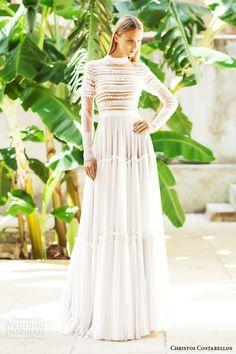 christos costarellos bridal 2015 br15 20 long sleeve wedding dress high neck