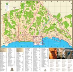 Antibes tourist map Maps Pinterest Tourist map Antibes and France