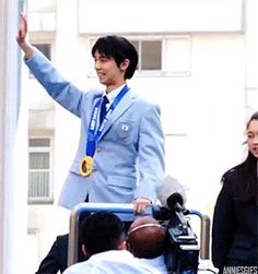 Waving to his fans