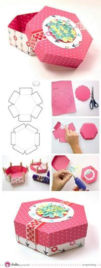 ideas diy paper crafts origami gift boxes for 2019 Diy Gift Box, Diy Box, Diy Gifts, Gift Boxes, Diy Paper, Paper Crafts, Papier Diy, Craft Box, Diy And Crafts