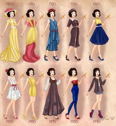 Snow White in 20th century fashion by BasakTinli
