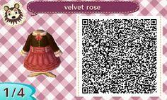 Velvet Rose dress - Animal Crossing New Leaf QR Code